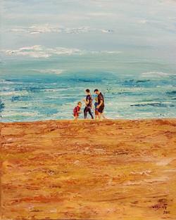 Sydney Manly Beach - Acrylic - 40 50 - 2015