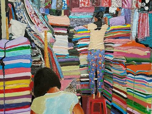 My cleaning brushs cotton rag ( Textile Market, Bangkok)