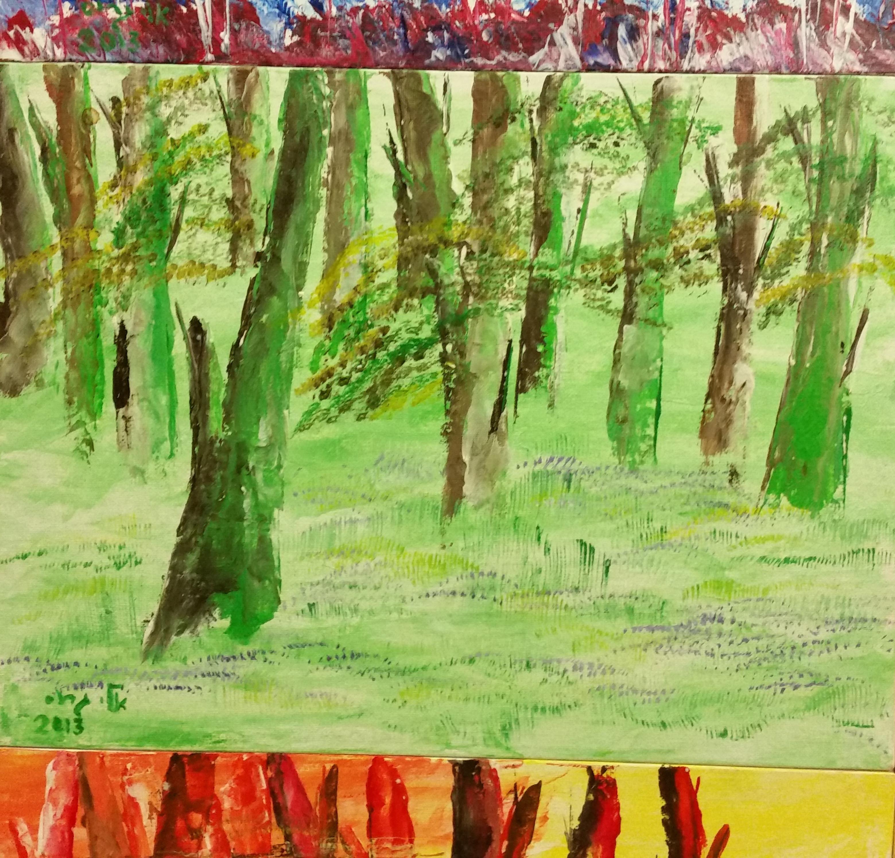 Seasons Spring 30 40 acrylic 2014