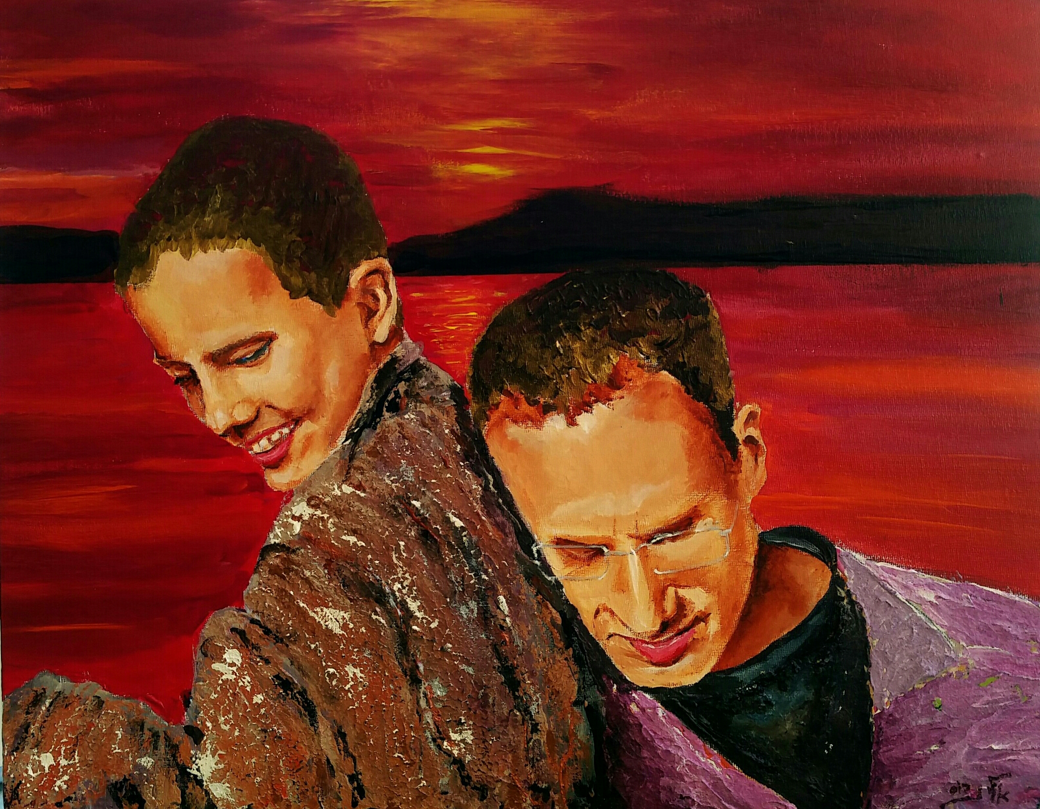 A father's love - a love without end  Acrylic