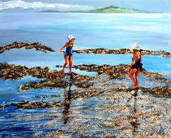 Come walk with me along the sea - Acryli