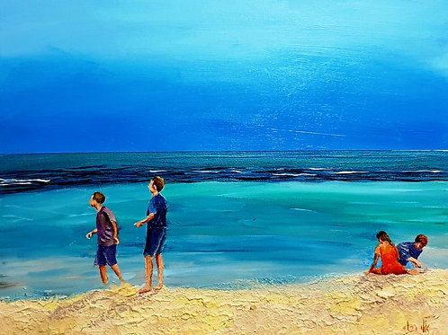Children have their play on the seashore of worlds  (2)