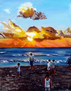 Kites in the sunset עפיפונים בשקיעה