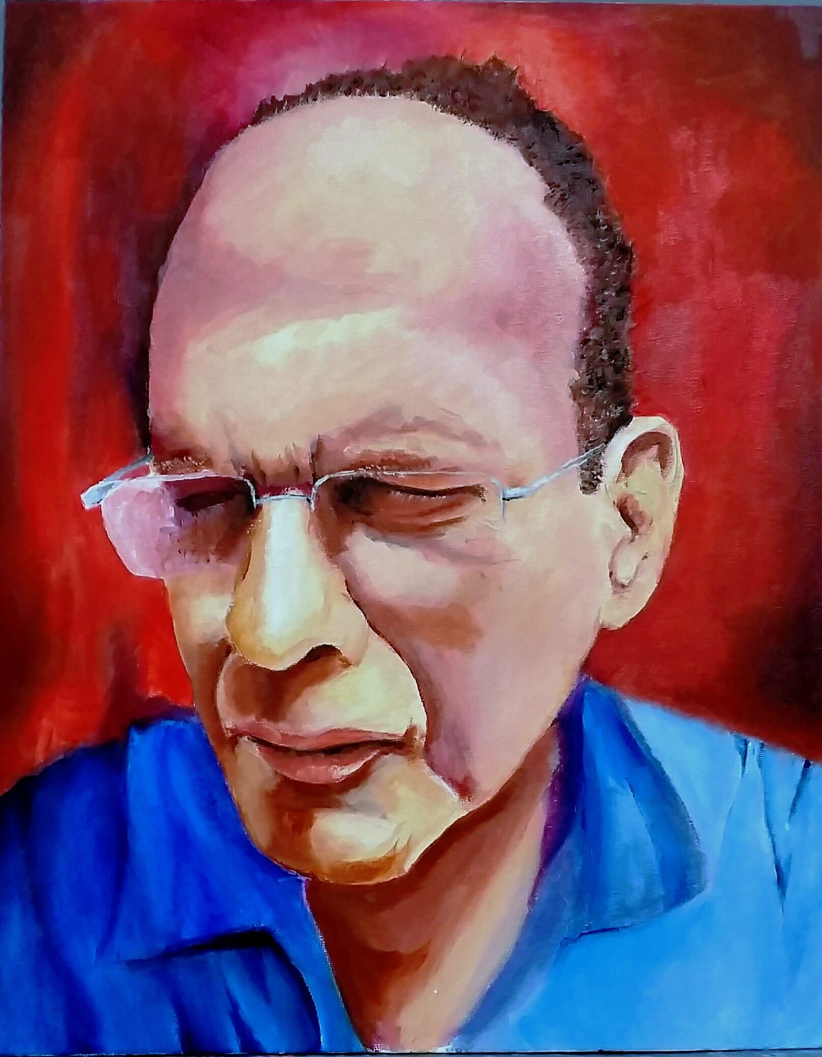 expresive self portraite oil 40-50 2015