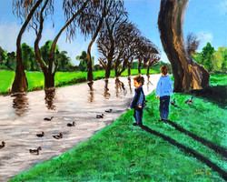 Children told the wild geese  it was time to go