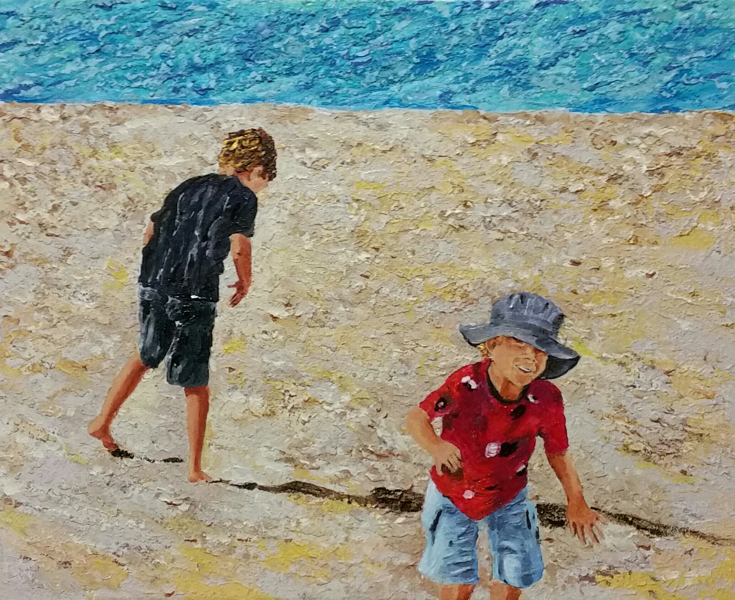 treasure hunters   acrylic