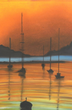 Sunset - Pastel on Canson - sale