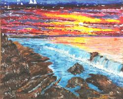 Sunset - Acrylic - 40X50 cm - 2014