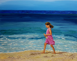 היא הילדה בוורוד שעל שפת הים.