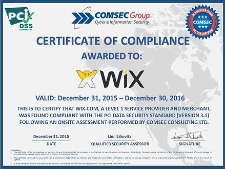WIX security certificate