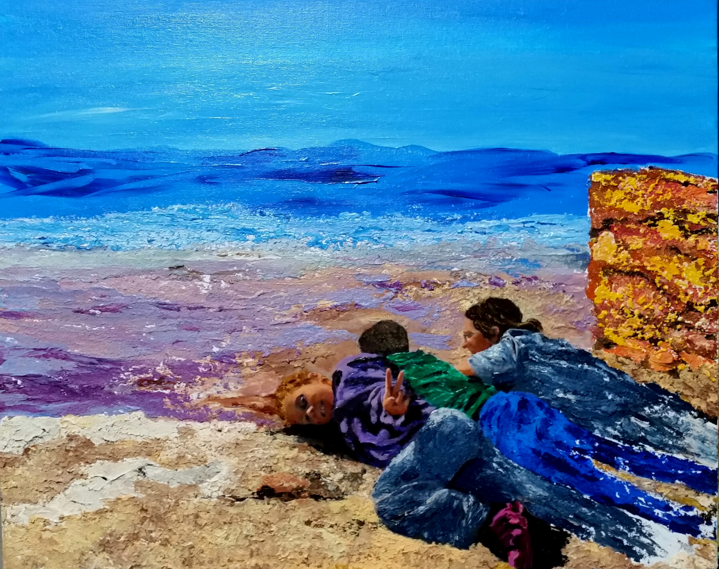 live on the edge  - entering unknown territory, Ramon Crater  Acrylic