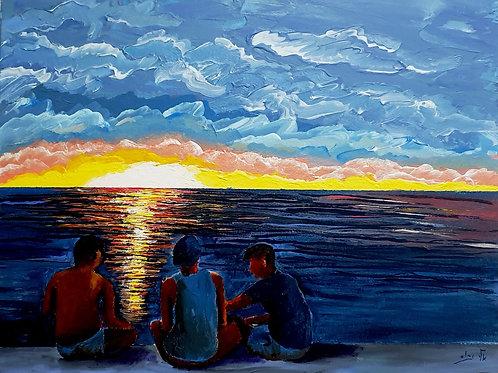 Discuss world affairs over sunset