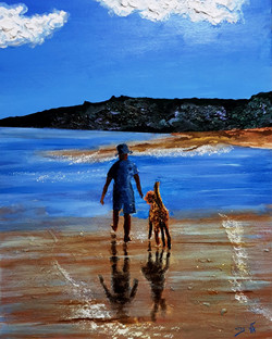 As they walked together on the shores of