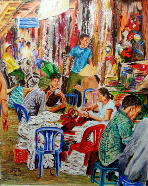 השוק הסיני בסייגון - אקריליק - 40 50.jpg