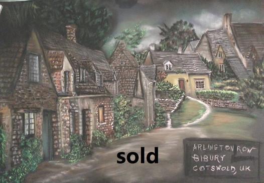 Arlinton Row in Bibury - Pastel -    אצל