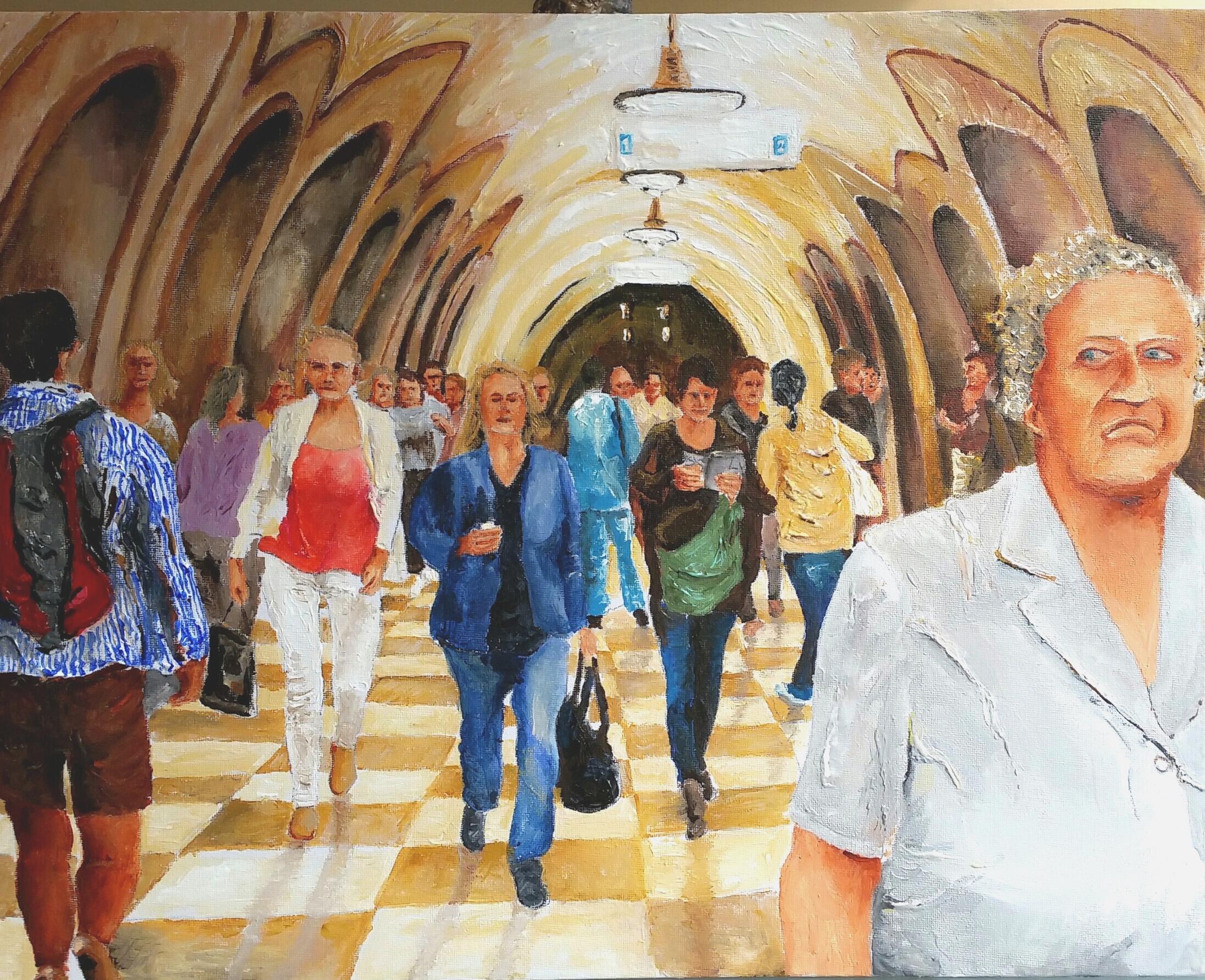 Moscow Metro - Acrylic  40-50 cm   2015