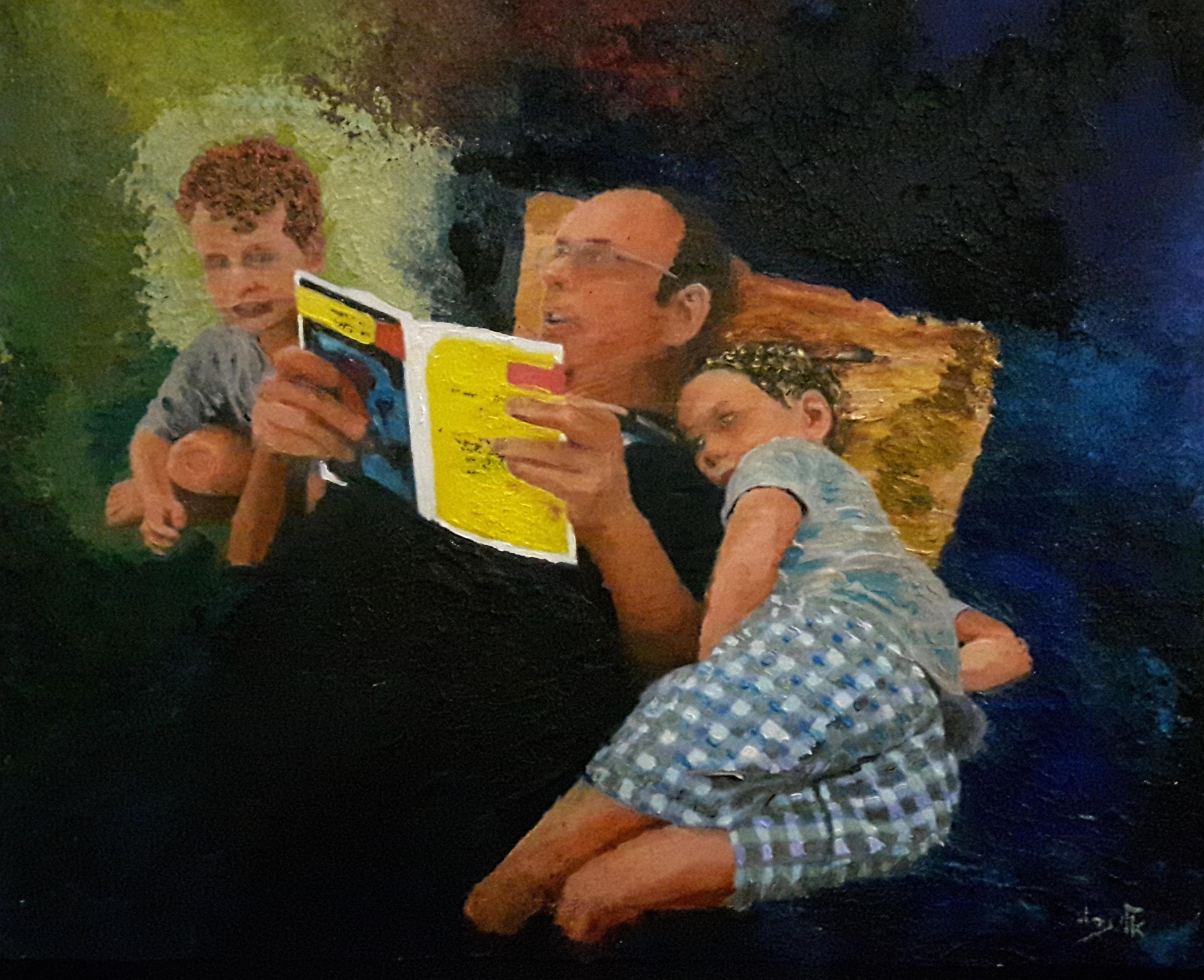 bedtime story - acrylic