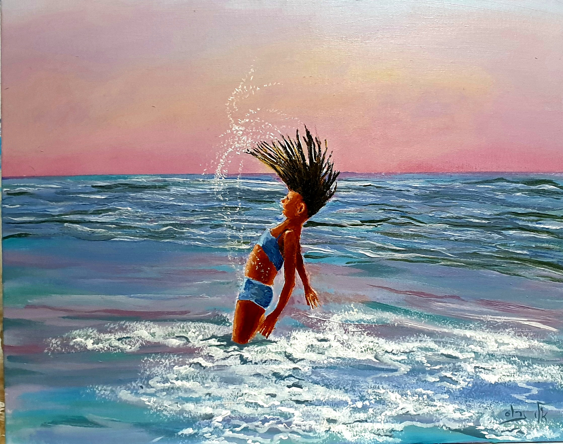 A girl who leapt like dolphin   - Acryli