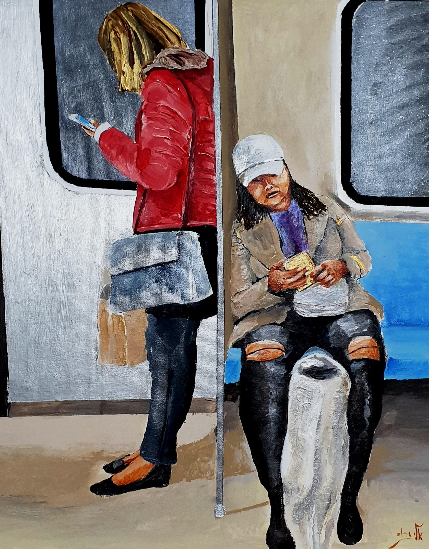 Strangers on a train  - Acrylic