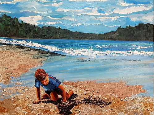 On the seashore of endless worlds the children build their houses with sand (Ac