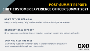 Post-Summit Report   Virtual Chief Customer Experience Officer Summit 2021
