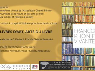 Événement : Francophonie vivante à la Galerie Simoncini à Luxembourg