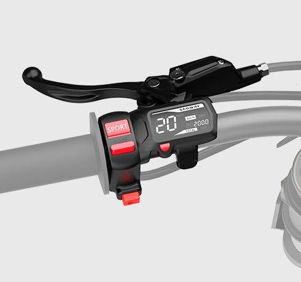 Dashboard: The Ninebot MAX leverages a widened platform design.