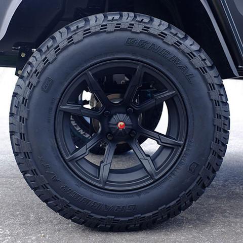 "Custom 14"" Wheels & General A/TX Tires"