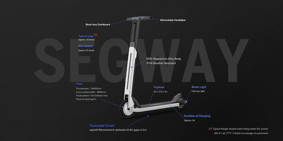 Segway AIR T15 Electric Kick Scooters HOLIDAY SPECIAL!