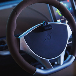 Hand-stitched steering wheel