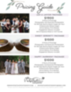 Pricing Guide Whatnot Shop Photography Cleveland Ohio Wedding Photography, All Day Coverage, two photographers, edited images, online gallery, print release, engagement session included, high quailty digital images.  $1000, $1500, $1900, under $2000, Wedding photography cost and pricing