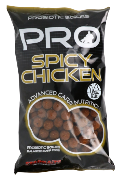 Starbaits Probiotic Spicy Chicken Kulki 14mm 1kg