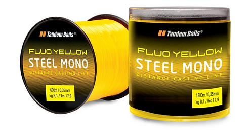 Tandem Baits Żyłka Mono Fluo Żółta 0,35MM 600M