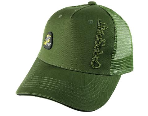 Carp Spirit Czapka z Daszkiem Trójkotne Logo Green