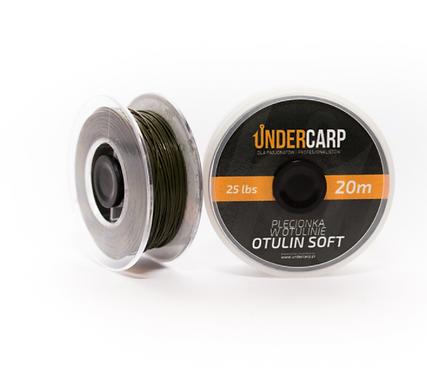 UnderCarp Plecionka Otulina Soft 20M /25LBS Zielona