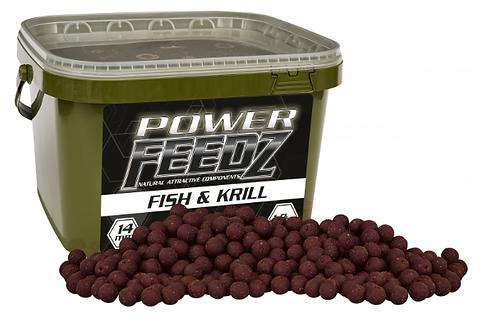 Starbaits Power Feedz Fish Krill Kulki 20mm 1,8kg