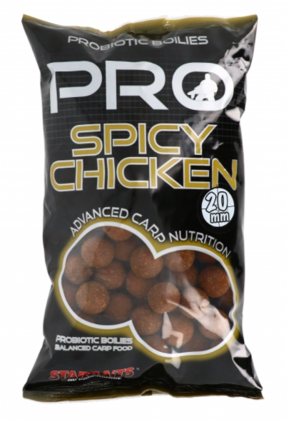 Starbaits Probiotic Spicy Chicken Kulki 20mm 1kg