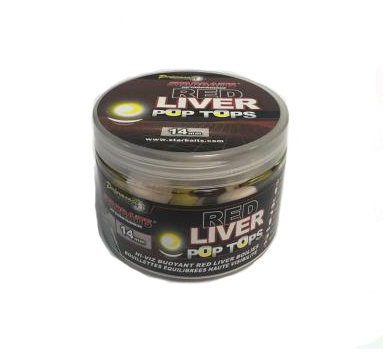 Starbaits Red Liver Balanced Pop Tops 20mm 60g