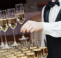 Waiter with Champagne Pyramid