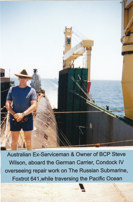Australian Repairs Russian Submarine on German Cargo Ship delivering it to the United States!