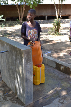 Who does the unpaid work of transporting water in Tanzania?