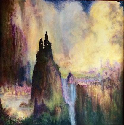 Journey, acrylic painting, 4x4' framed