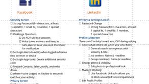 Social Media Security: A Checklist