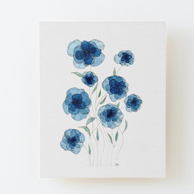 Blue Transparent Petals