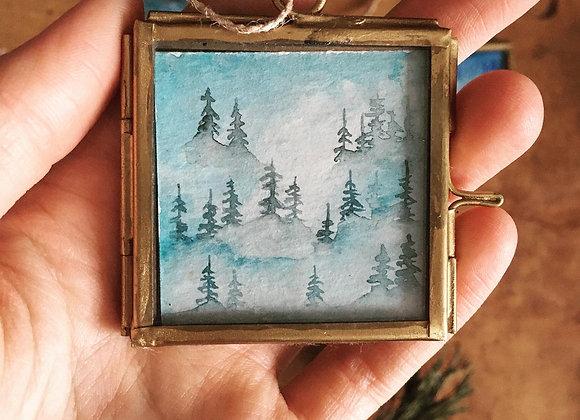 Ventana mágica - Bosque azul