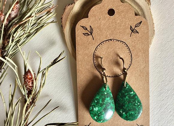 Handmade Earrings - Green Forest