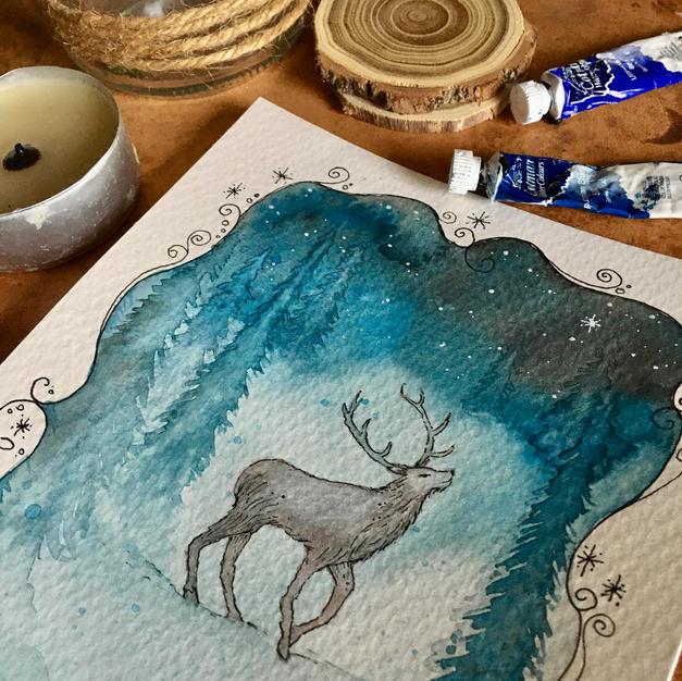 Deer (December - 2021 Calendar)