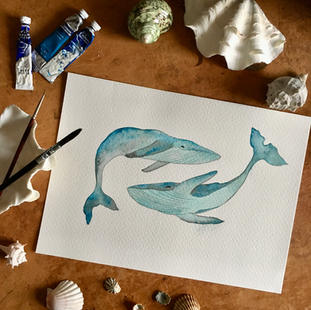 Ballenas bailando