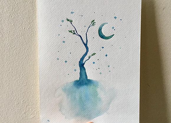 Original Watercolour - Dreamy Tree