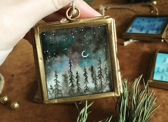 Magical Window - Moon over the Forest